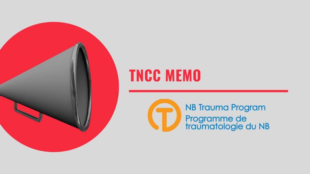 TNCC MEMO – 2019 TNCC CHANGES